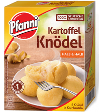 Pfanni Kartoffelknödel, halb&halb