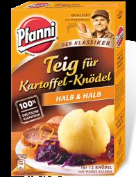 Pfanni Teig für Kartoffelknödel, halb&halb
