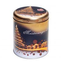 Round Meistersinger-Schmuckdose gefüllt mit Lebkuchen