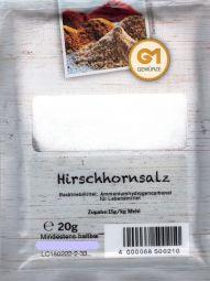 Gemara Hirschhornsalz - ammonium carbonate