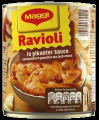 Maggi Ravioli in pikanter Sauce
