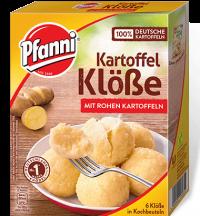 Pfanni Kartoffelklösse mit rohen Kartoffeln