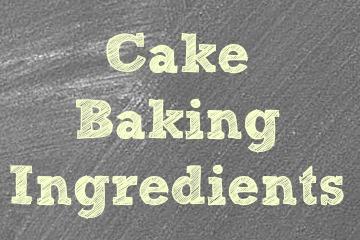 Cake Baking Ingredients