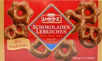 Lambertz Schokoladenlebkuchen-Vollmilch -Herzen, Sterne, Brezeln (blau)