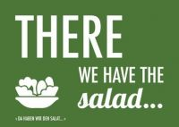 Denglisch-Postcard 'There we have the salad'