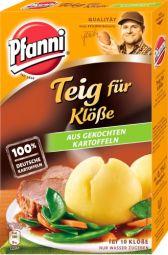 Pfanni Teig für Klöße aus gekochten Kartofflen