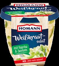 Homann Weisskrautsalat mit Paprika&Zwiebeln 400g