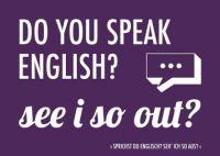 Denglisch-Postcard 'Do you speak English?...'