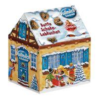 Wicklein Winterhäuschen gefüllt mit bunten Lebkuchen