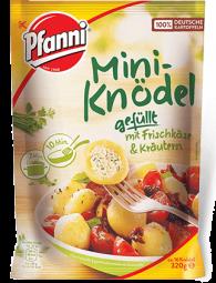 Pfanni Mini Knödel gefüllt mit Frischkäse