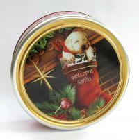 Mürbegebäck mit Butter in Weihnachtlicher Dose