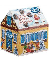 Winterhäuschen gefüllt mit bunten Lebkuchen