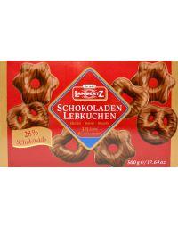 Lambertz Schokoladenlebkuchen-Vollmilch -Herzen, Sterne, Brezeln