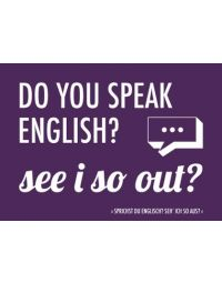 Denglisch-Postcard 'Do you speak English?...'