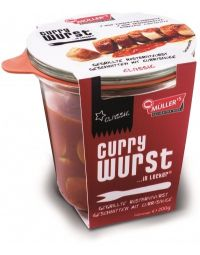 Müller's Currywurst in a jar