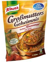 Knorr Deftiger Linsentopf mit Speck